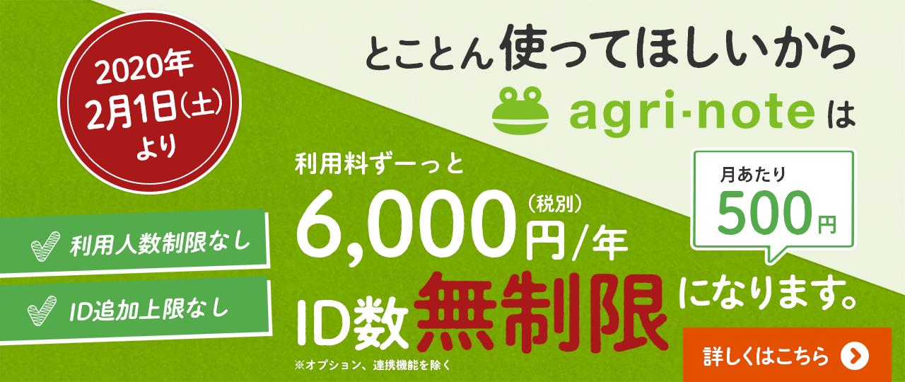 2020年2月1日(土)より、6,000円(税別)/年でID数無制限になります