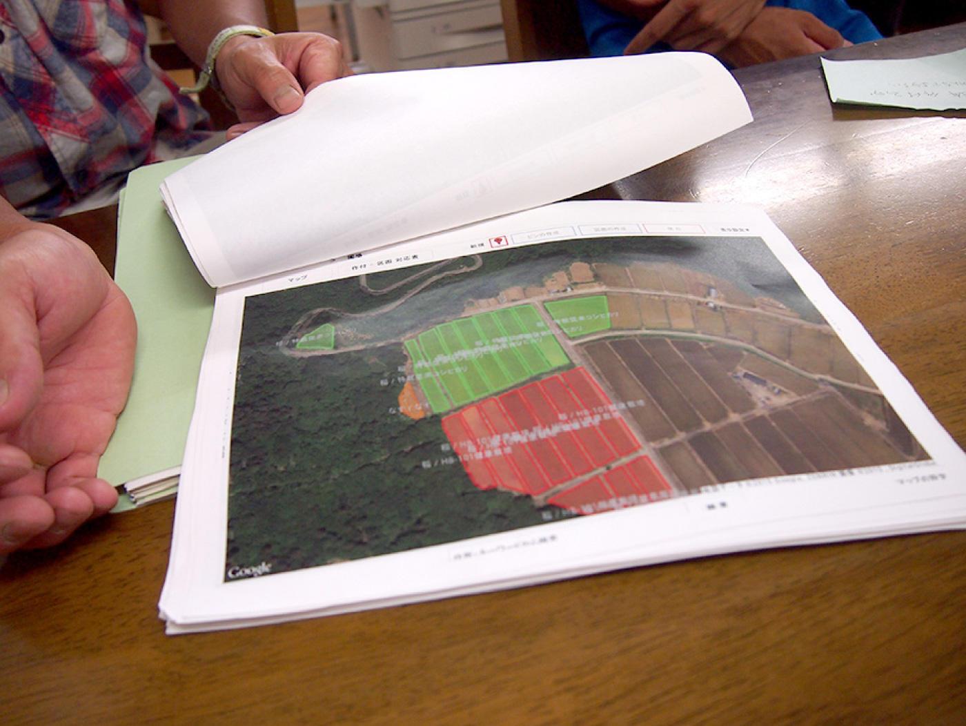 アグリノートの画面を印刷して使用するケースも